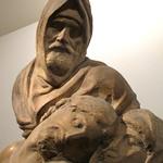"""Detalle de la """"Pietá"""" de Miguel Ángel"""