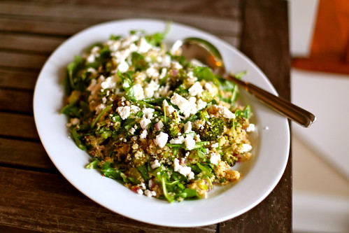 quinoa with roasted broccoli & feta