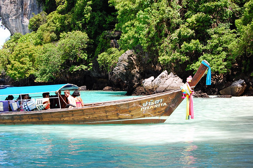 longtail boat on Monkey Beach