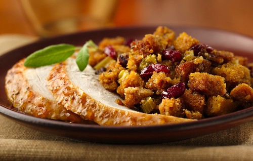 Orange-Glazed Roast Turkey with Gluten Free Cranberry-Orange Stuffing Recipe