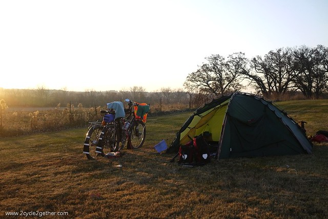 Campsite outside of Elmo, MO