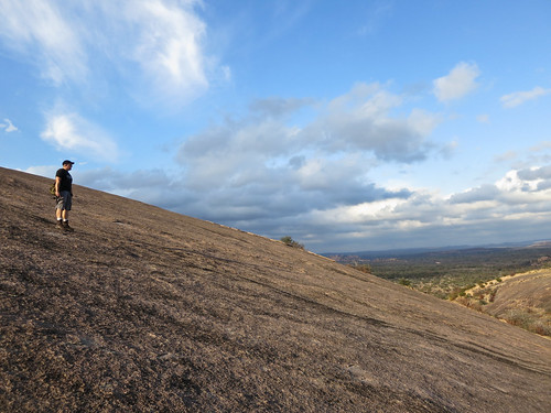 On the side of Enchanted Rock