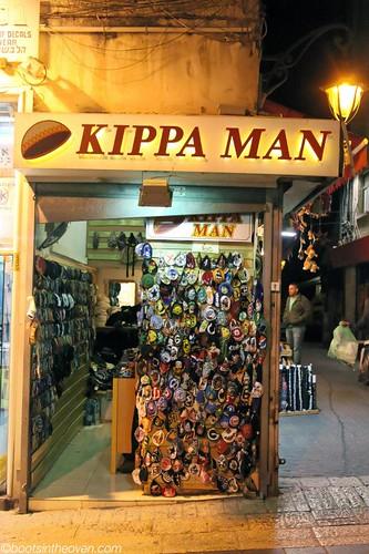 Kippa man, kippa man, doing the things that a kippa can