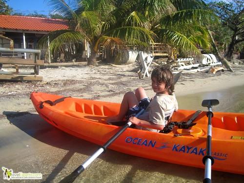 Kayak for Kids Roatan Honduras