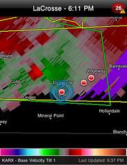 Dodgeville,WI-Radar-Velocity