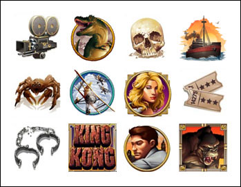 free King Kong slot game symbols