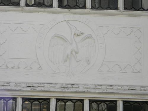 Heron in the pargeting