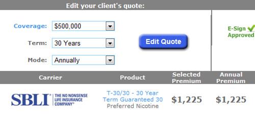 30 Term Life Insurance Quotes: Smokers Term Life Insurance Quote For Males