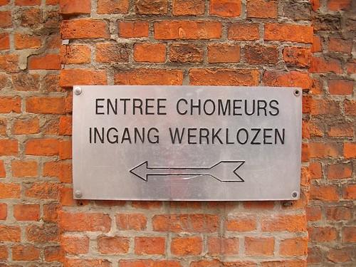 Entrée Chomeurs / Ingang Werklozen