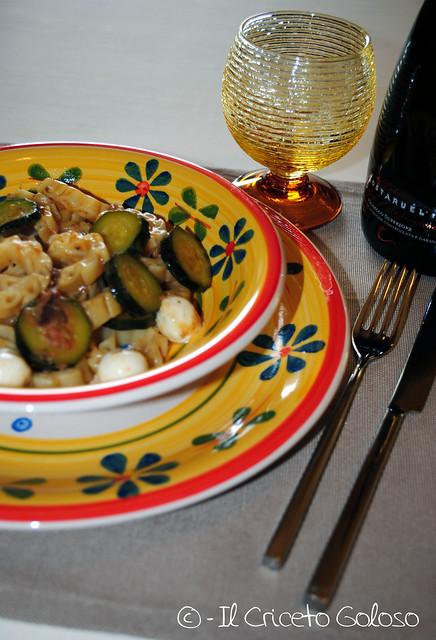 Sole con zucchine, acciughe e mozzarelline 2