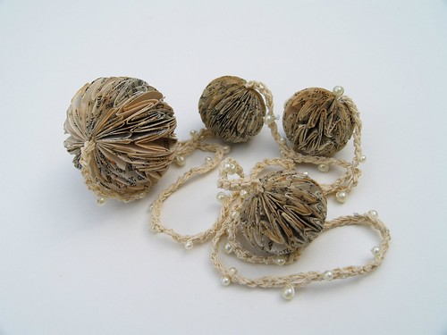 Origami Ball Necklace