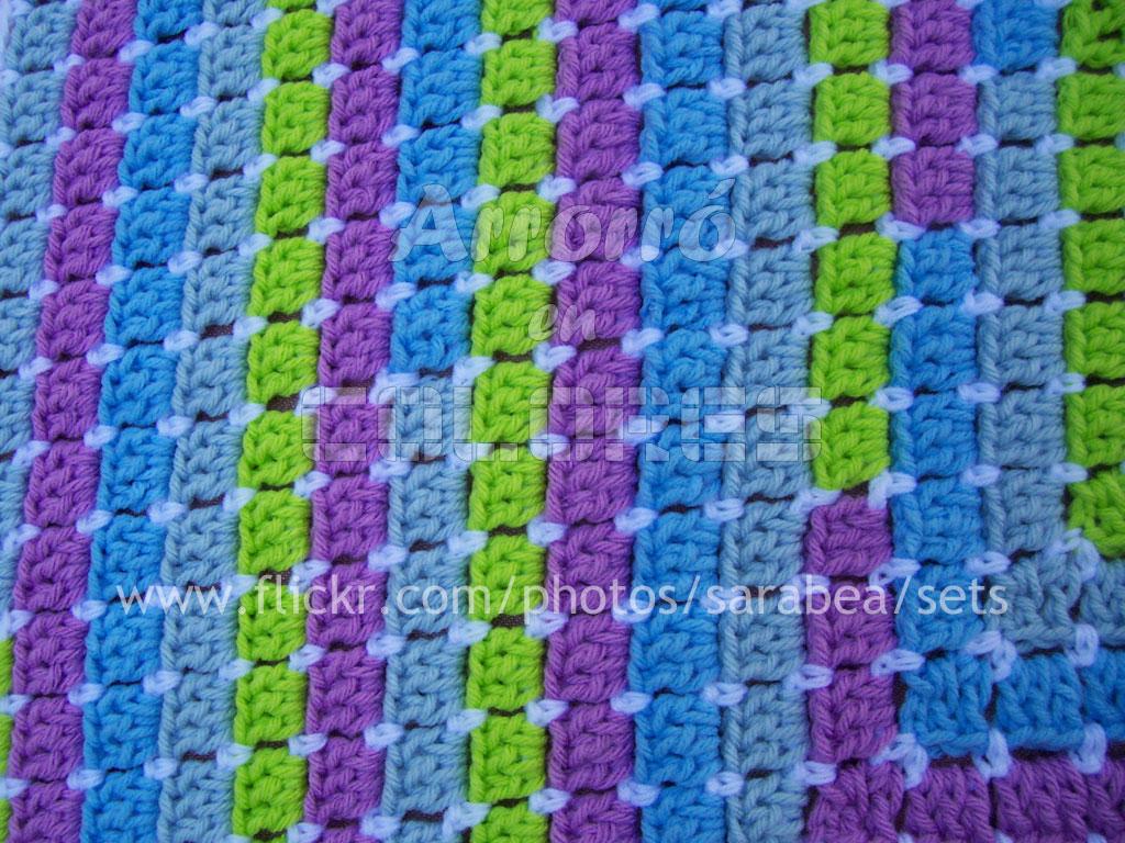 mantas de colores para bebes en crochet