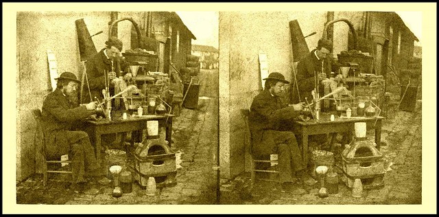 THE CHEMISTS -- Friends of the 3-D Photographer During in the 1850s