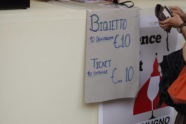 €10 for ten glass