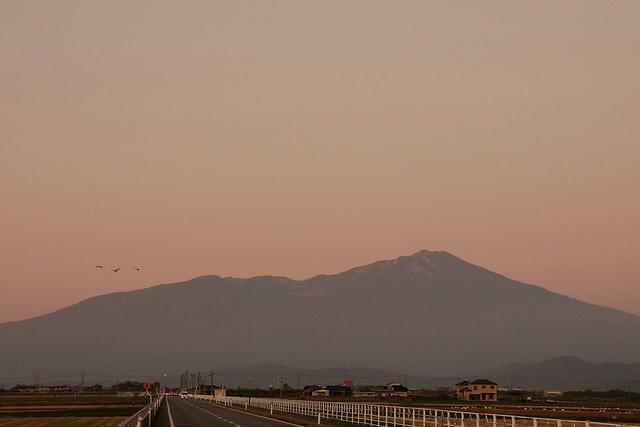鳥海山夕景