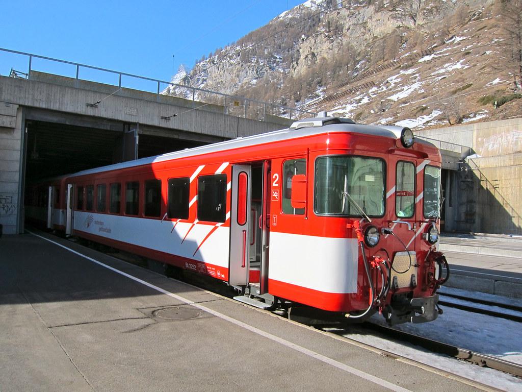 Train ride from Zermatt to Zurich