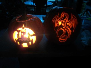 Castle & Dragon pumpkins!