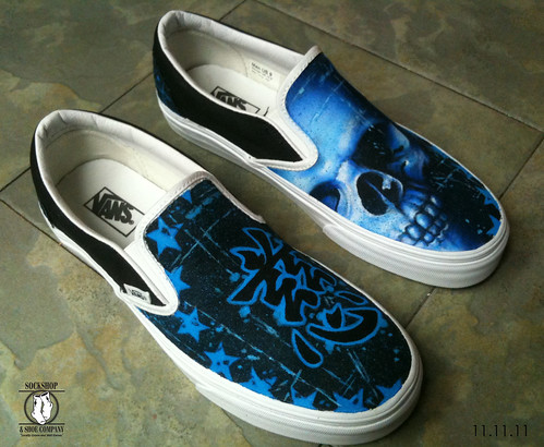 Joey Vela custom painted Van's shoe by Judi Oyama