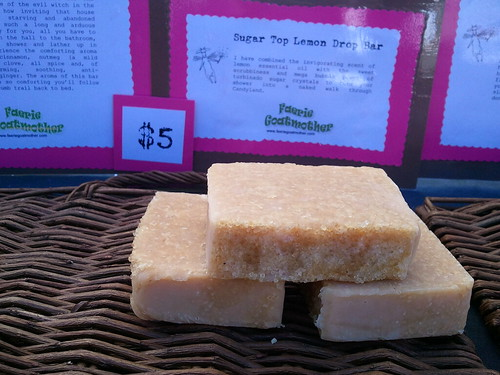 Hand and home made soap for $5 on Treasure Island flea market