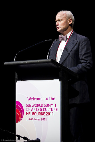 James Strong, AO, Chair of the Australia Council at the official opening of the 5th World Summit on Arts and Culture