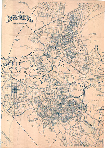 Plan of Canberra - c1940