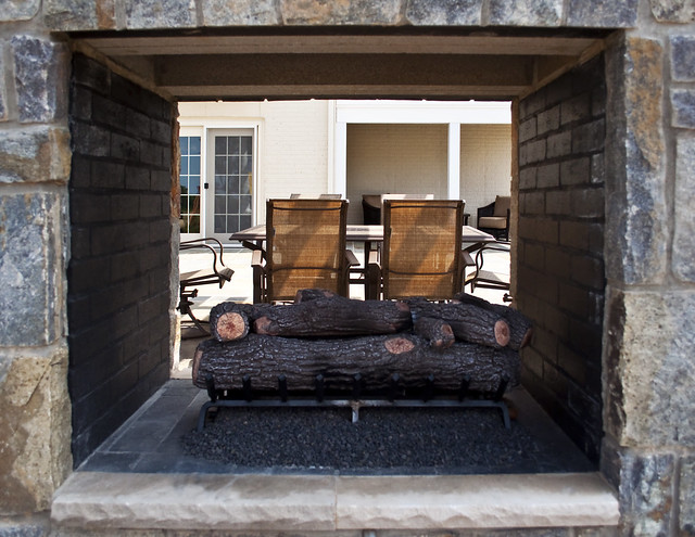 sided outdoor fireplace flickr photo