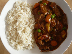 stew, curry, steamed rice, vegetable, japanese curry, meat, food, rice and curry, dish, cuisine, gumbo,
