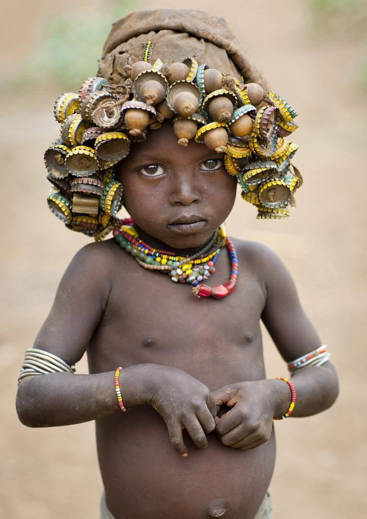 Shy Dassanach kid - Omorate Ethiopia