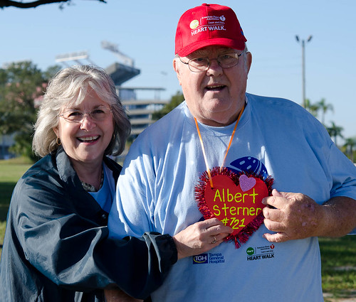 Albert Sterner (Heart Transplant #721) & his wife at #TBHeartWalk