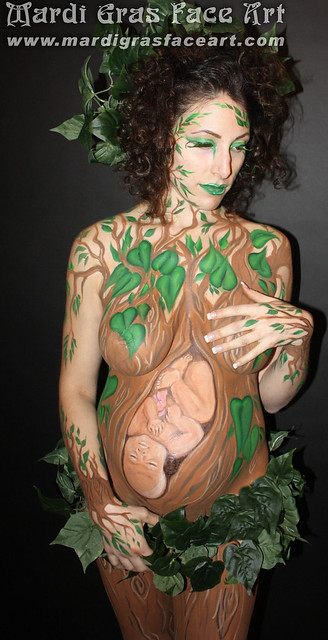 Baby bump body art! Professional face painting to make your next party the ...