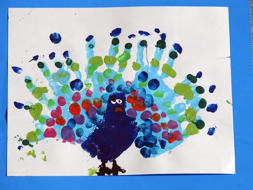 Peelu's acrylic peacock