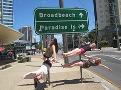 Street Poling at Surfers Paradise