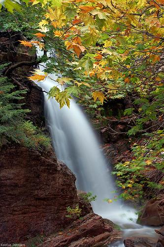 autumn lake water colors landscape photography waterfall rocks seasons central hellas greece kostas 2011 petrakis plastiras