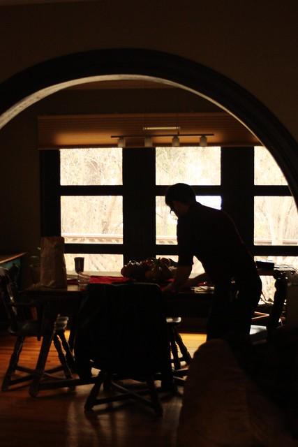 Eric setting up