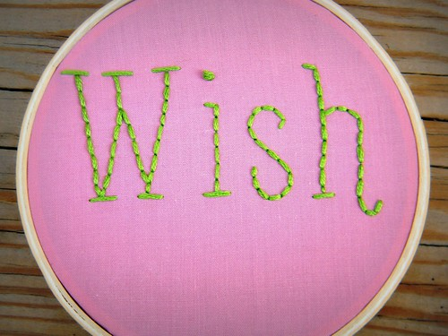 Wish Bone Two Piece Set Embroidery Hoop Art