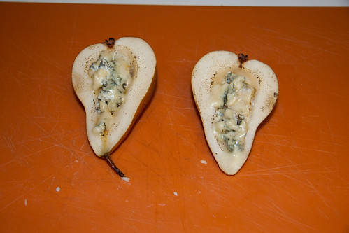 Carmelized Bleu Cheese Stuffed Bosc Pears