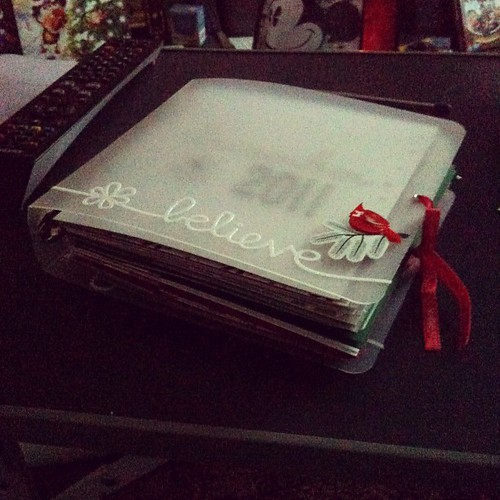 My dec daily #decdaily album base pages complete!  Next to do: journalling blocks :)