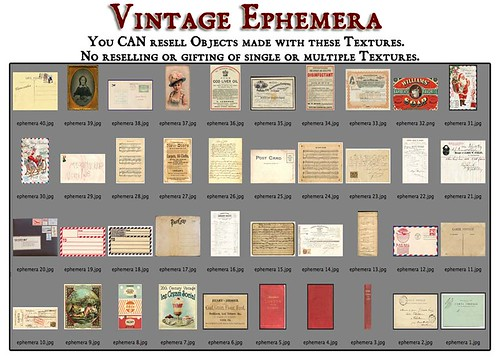 Shabby Chic Vintage Ephemera by Shabby Chics