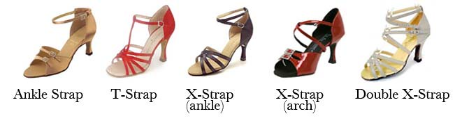 Salsa dance shoes styles