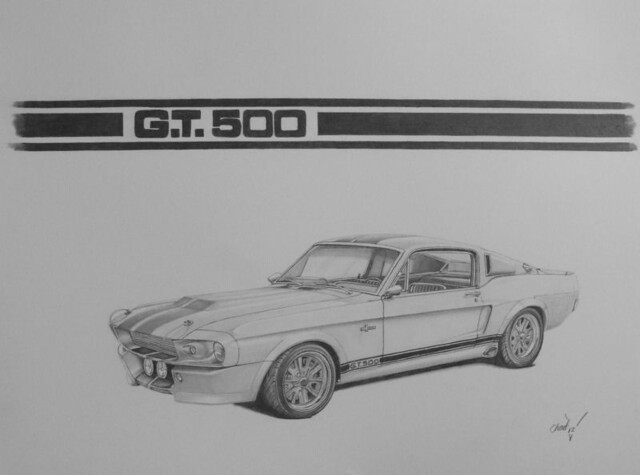 how to draw the gone in 60 seconds mustang
