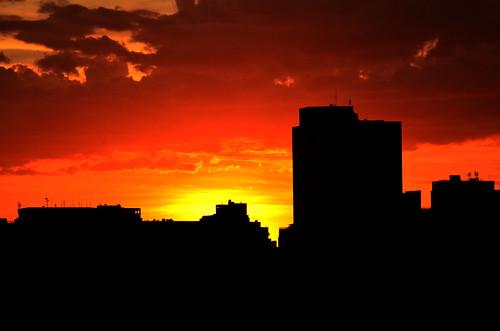 無料写真素材, 建築物・町並み, 都市・街, 朝焼け・夕焼け, 風景  ブラジル