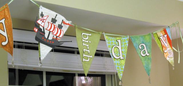 Pirate Ship 4th Birthday Banner - web