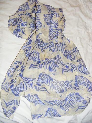 primark haul zebra scarf