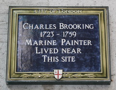 Photo of Charles Brooking blue plaque