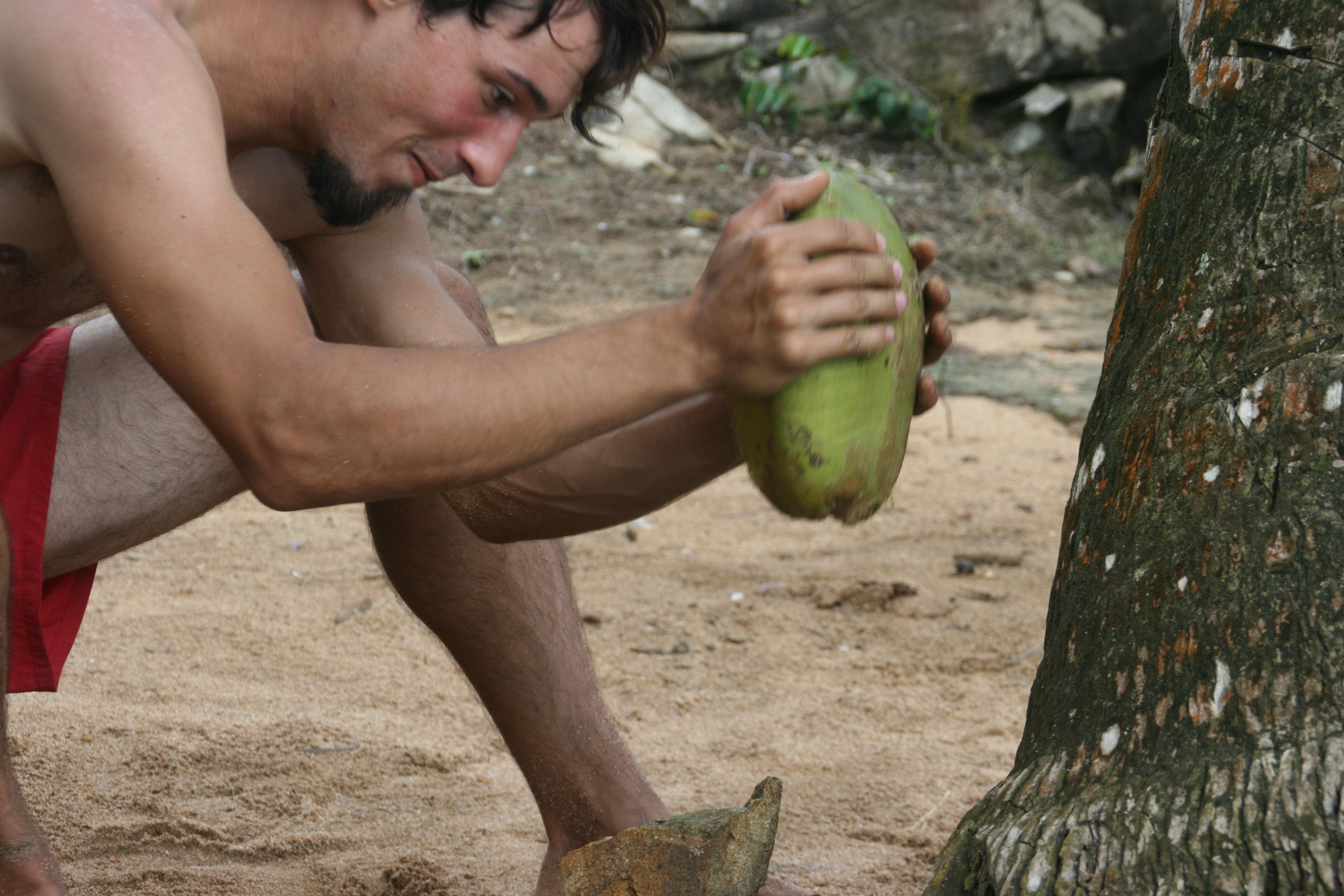 Com obrir i menjar-se un coco 3