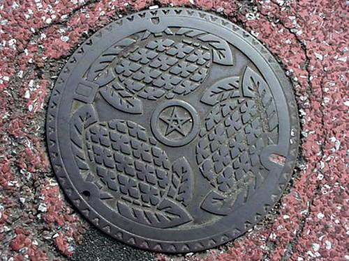 Nagasaki, Nagasaki pref manhole cover 2(長崎県長崎市のマンホール2)