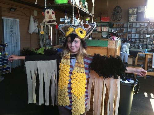 Owl costume progress