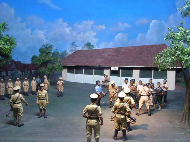 這是日惹歷史博物其中一個故事,故事都是圍繞在日惹的抗爭的歷史。