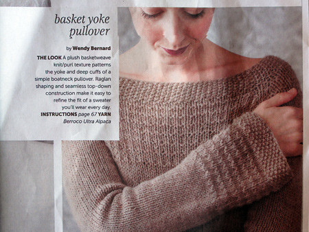 Knitting Pattern Azel Pullover : Bakset Yoke Pullover pattern from Knit.Wear magazine Flickr - Photo Sharing!
