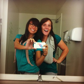 Day Three of Matching, captured in the ladies restroom